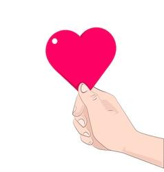 hand heart vector image