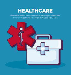 healthcare infographic design vector image