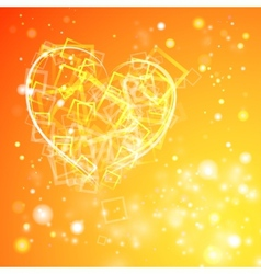 Heart with flashes of light vector image