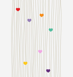 hearts and lines background vector image
