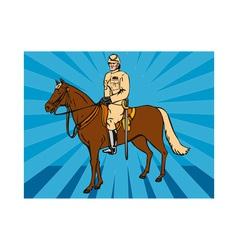 Hussar Horse Retro vector