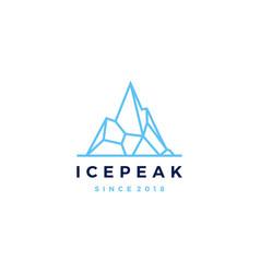 ice peak mount mountain adventure icepeak vector image