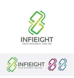 infinity eight logo design vector image