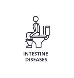 intestine diseases thin line icon sign symbol vector image