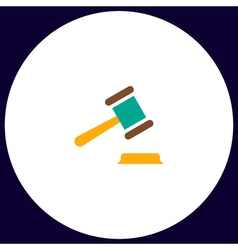 Judge gavel computer symbol vector image
