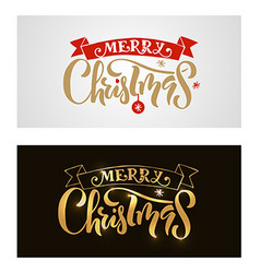 Lettering Merry Christmas for ChristmasNew Year vector image