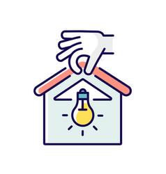 Lighting installation rgb color icon vector
