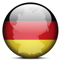 Map on flag button of Federal Republic of Germany vector image