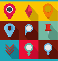 Meeting spot icons set flat style vector