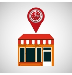 Mobile phone pizza shop locater vector