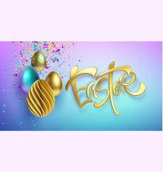 modern trendy golden metallic shiny typography vector image