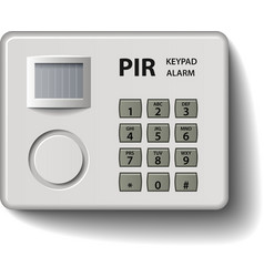 Motion detector keypad infrared alarm vector