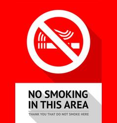 no smoker poster vector image