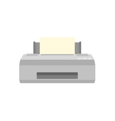 Old printer icon flat style vector