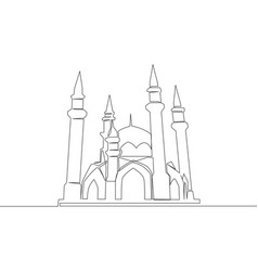 one single line drawing historical dome vector image