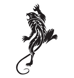Panther tattoo vintage engraving vector