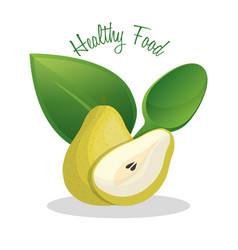 pear healthy food diet design vector image