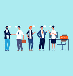 people waiting for interview vacant position vector image