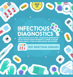 Poster of infections and viruses medicine vector
