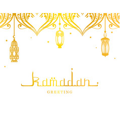 ramadan kareem greeting card arabic with vector image