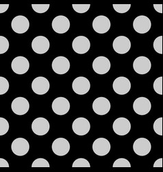 Seamless pattern with grey polka dots on a black vector