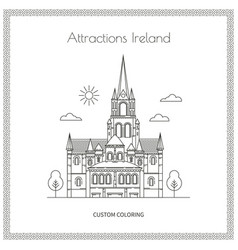 sightseeing ireland pictures vector image