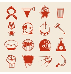 Soviet icons0 vector image