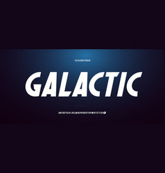 space font bold italic style vector image