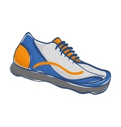 Sport sneaker isolated vector