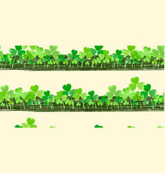 st patrick s day horizontal background vector image