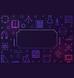 Stem education creative horizontal frame vector