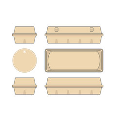 Stock template box for chicken eggs vector