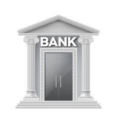 Stone building of bank vector