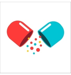 Tablet pill vector image