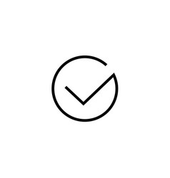tick icon symbol isolated thin line art vector image