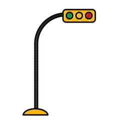 Traffic light semaphore vector