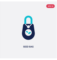 two color seed bag icon from agriculture concept vector image