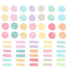watercolor strokes and blotches vector image
