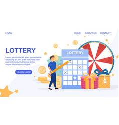 Web page template for lottery vector
