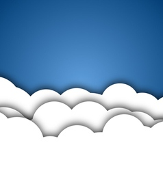 White Clouds Background vector image