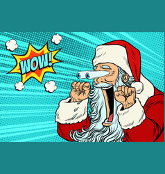 wow santa claus christmas character emotional vector image