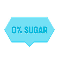 zero percent sugar banner hexagon speech bubble vector image