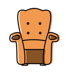 armchair furniture isolated vector image vector image