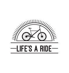 bike badge vintage style vector image vector image