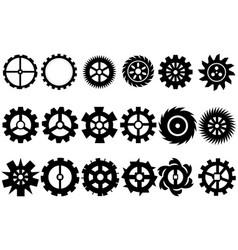 cogwheel machine gear set of gear wheels vector image