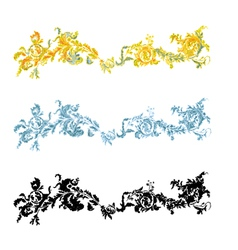 Vintage ornament filigreeen ornate decorative vector image