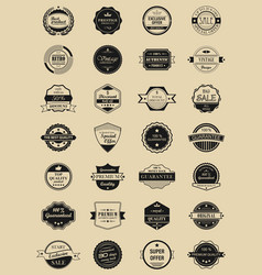 28 labels and logotypes set of vintage retro vector