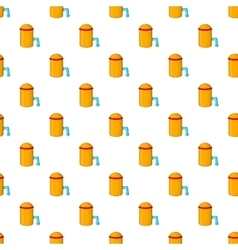 Barrel with tap pattern cartoon style vector image vector image