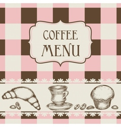 coffee and cakes menu vector image