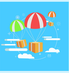 delivery service package by air gift vector image